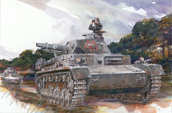 Dragon has previously released 1/72 scale plastic kits of the Panzer IV family, but this is the very first of the Ausf.D.  Thus, it's a 100% newly tooled kit. By judiciously combining smart engineering and slide-mold technology, the number of parts to assemble has been reduced to a minimum. For example, the road wheels and track run are made as one piece. Indeed, these parts only need to be plugged into the hull suspension units and glued and, hey presto, they're finished! This is a completely new idea from Dragon to ease assembly in every possible way without sacrificing one iota of detail.  Indeed, modelers will be able to enjoy their craft more than ever without wasting time on repetitive tasks. The Panzer Ausf.D was an early member of the family, but Dragon has applied the latest technology to it!
