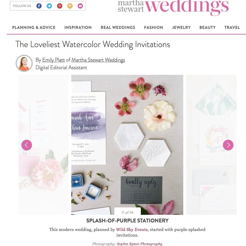 Martha Stewart Wedding Invitations Several Weeks Ago Shira Savada