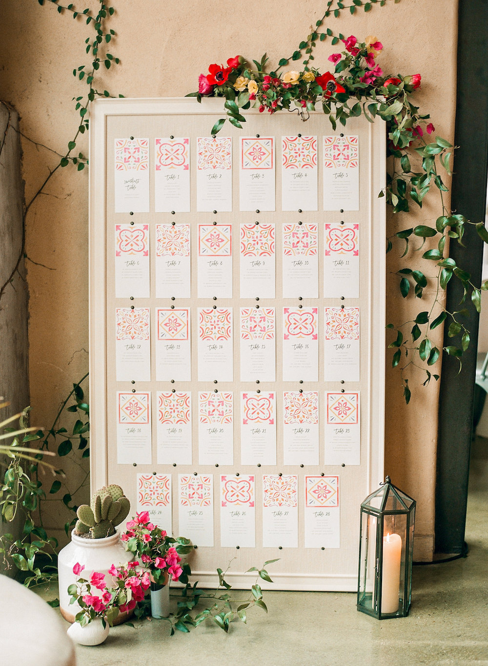 Need to give a shout out to Adrienne on my team who painstakingly lined all the cards up on our linen board.
