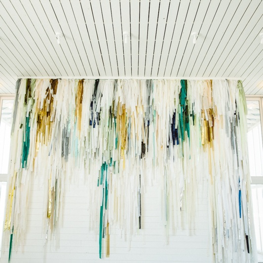 17' tall fringe detail wall