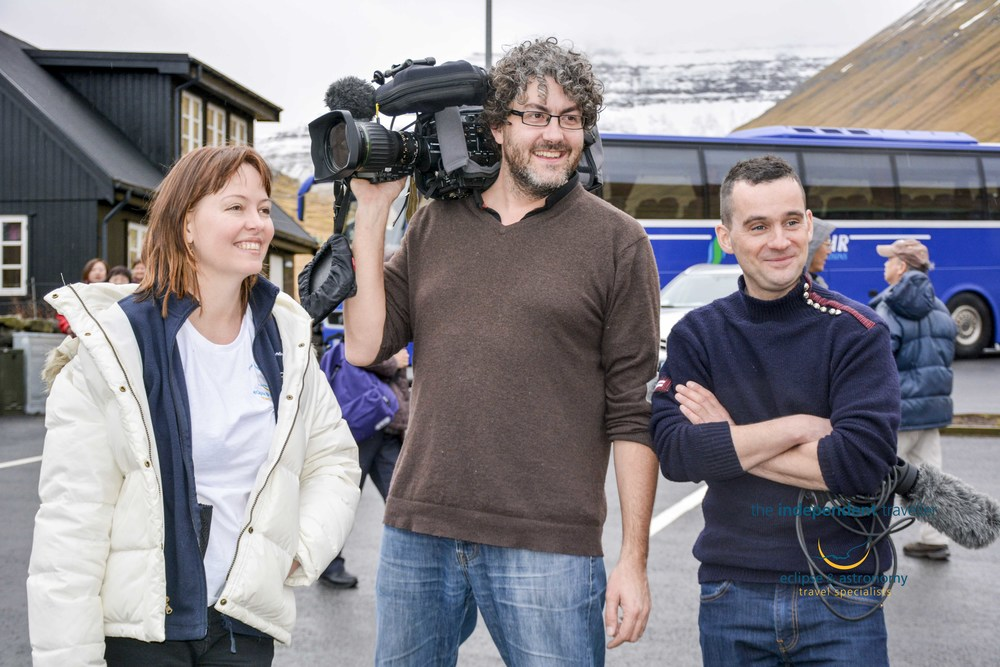 Al Jazeera Interview Kate Russo and The Independent Travellers Tour Partcipants  on the Faroe Islands Eclipse Tour, a few days before the big day!