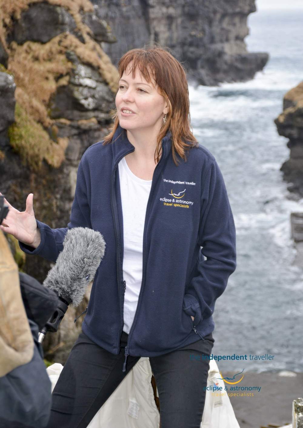 Kate being interviewed by Al Jazeera as part of The Independent Travellers TSE tour, on the 19th March 2015.