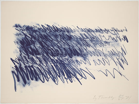 Cy Twombly; 'Untitled', 1971