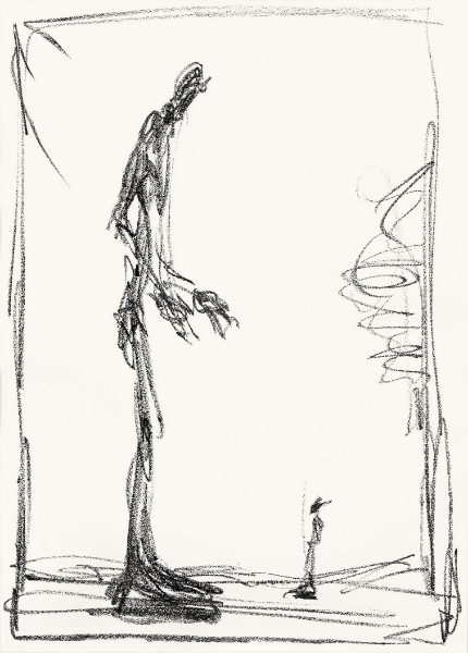 Alberto Giacometti, 'Dessin I (Big and Small)'