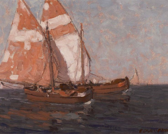 Edgar Payne, Sailboats on the Adriatic