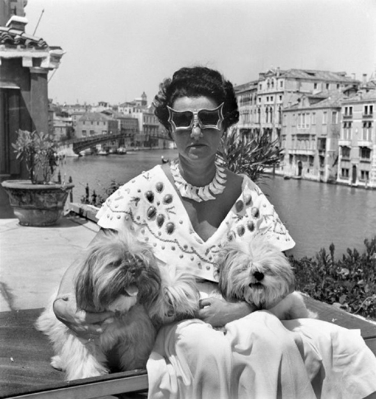 David Seymour; 'Peggy Guggenheim', 1950
