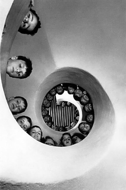 Henri Cartier-Bresson; 'Children on a Spiral Staircase'