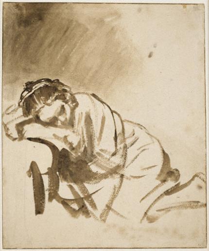 Rembrandt; 'Study of Hendrickje', 1654-55