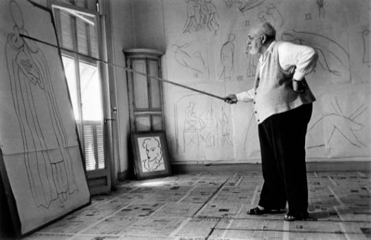 Robert Capa:Henri Matisse, 1949