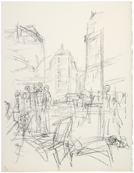 "Alberto Giacometti; ""Crowd at Intersection"" 1965"