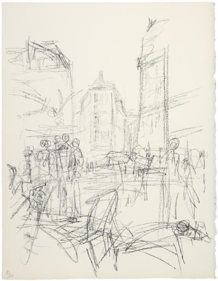 """Alberto Giacometti; """"Crowd at Intersection"""" 1965"""