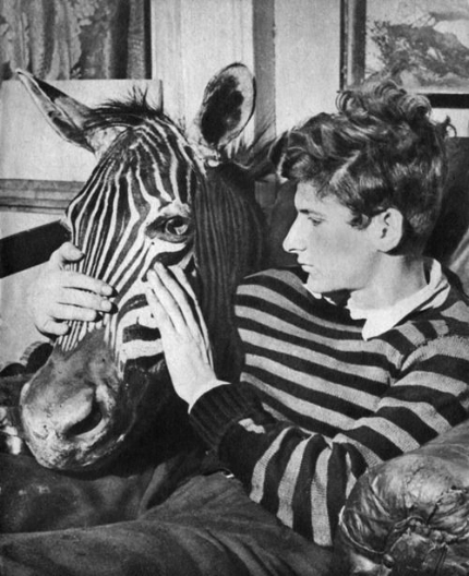 Lucian Freud with Zebra Head; 1943