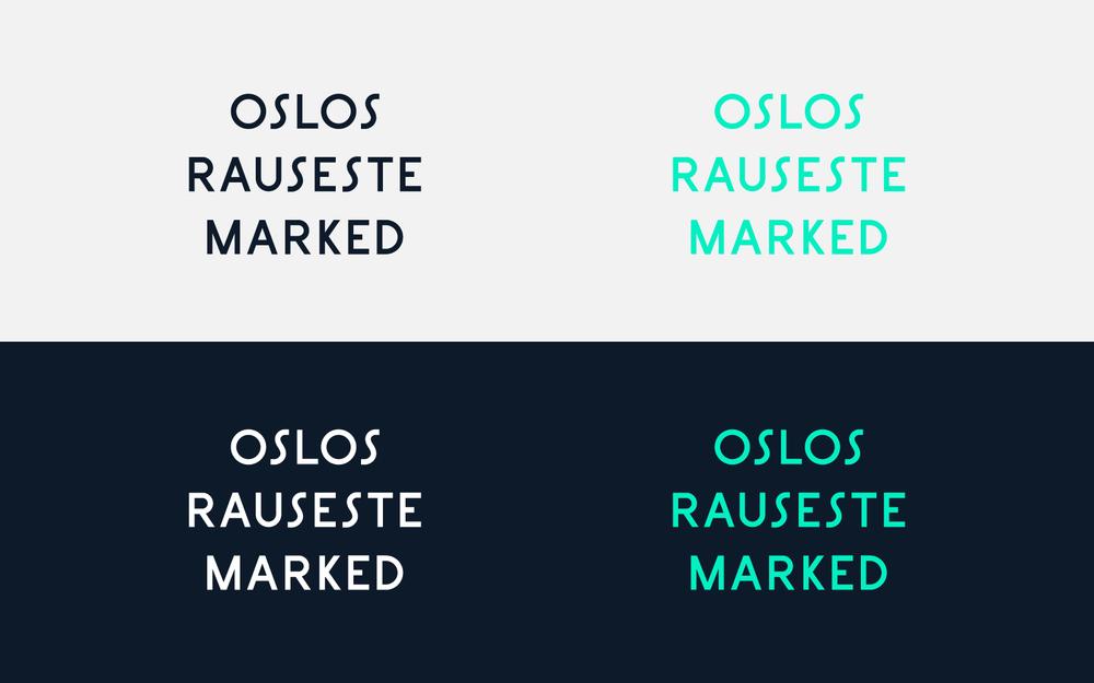 Customised lettering in logo
