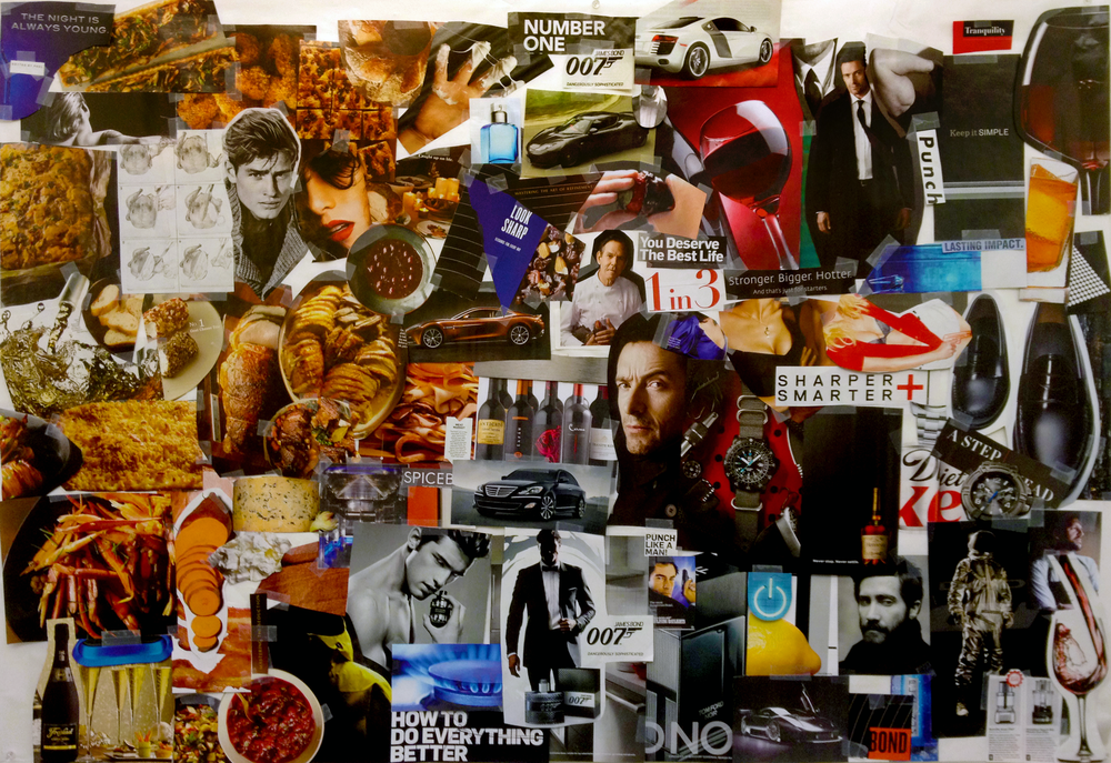Mood board that defined our design aesthetic and also the mood of the magazine app