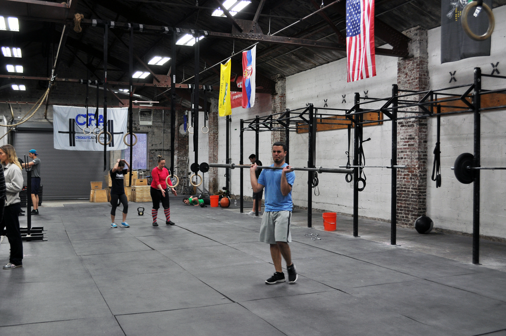 CrossFit gym in Pittsburgh where we spoke with members and trainers