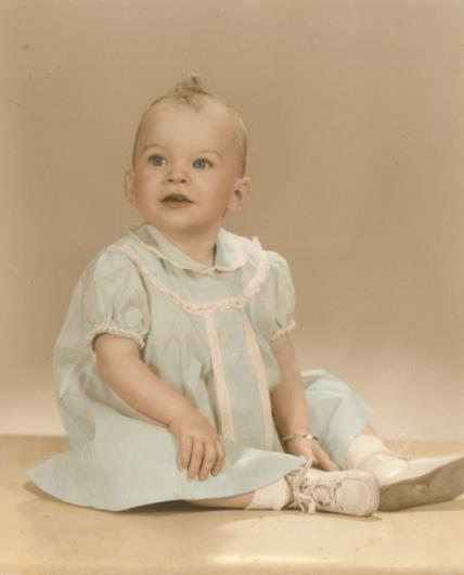 Pastor Debra at age 1
