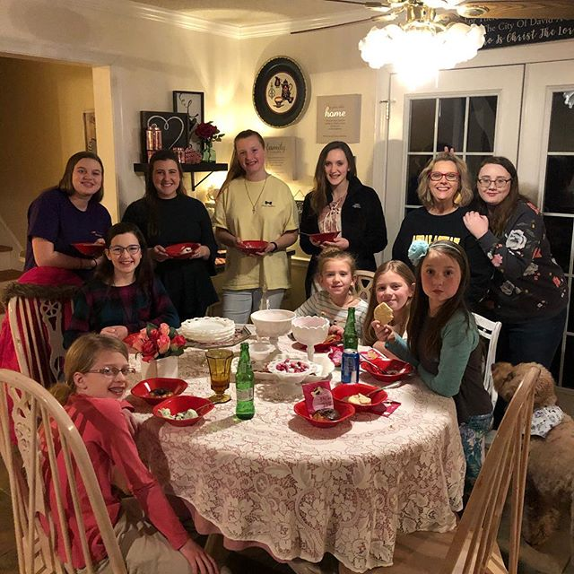 Just a few pictures from the girls' sleepover at the Myers' house.