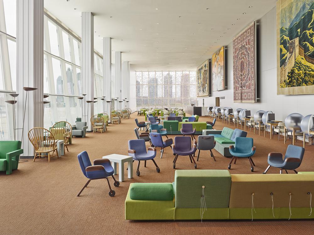 UN Delegates Lounge  OMA, Jongeriuslab