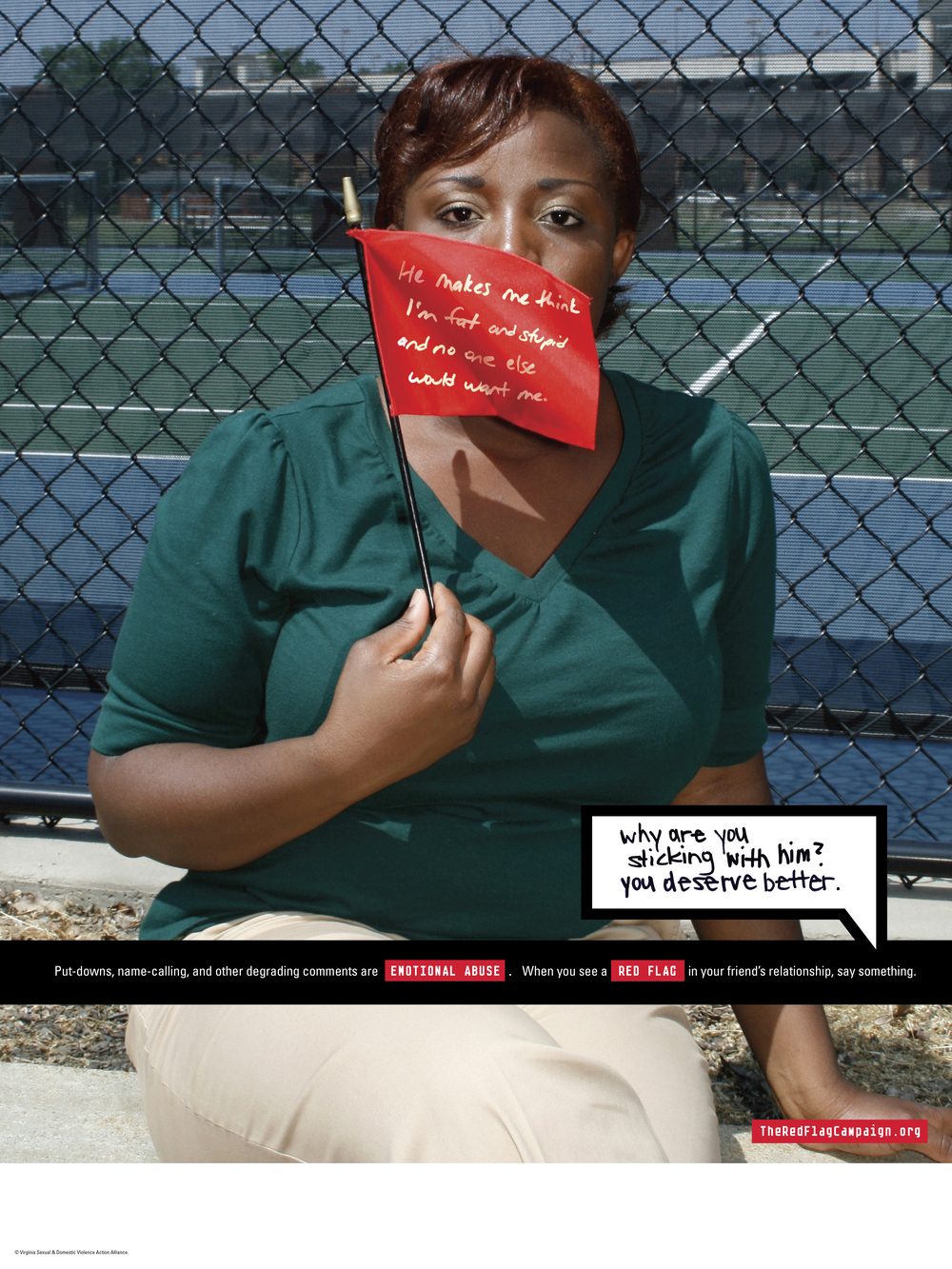 Red Flag Campaign poster: Emotional Abuse
