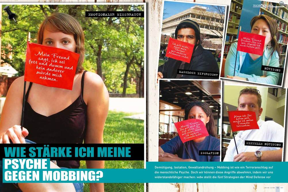 Red Flag Campaign featured in German magazine