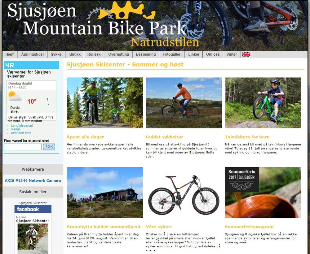 Fantastiske muligheter året rundt - les gjerne mer om tilbudet like i nærheten her  -  http://sjusjoen-skisenter.no/sommer/