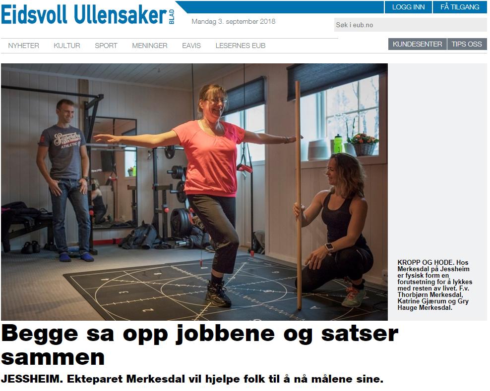 Vår første artikkel i Eidsvoll Ullensaker Blad om vår oppstart. Da var vi i vårt eget hus - før vi flyttet inn i egne lokaler.