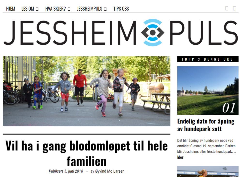 Fin artikkel i JessheimPuls om arbeidet med å få barn og unge til å løpe mosjonsløpet Blodomløpet.