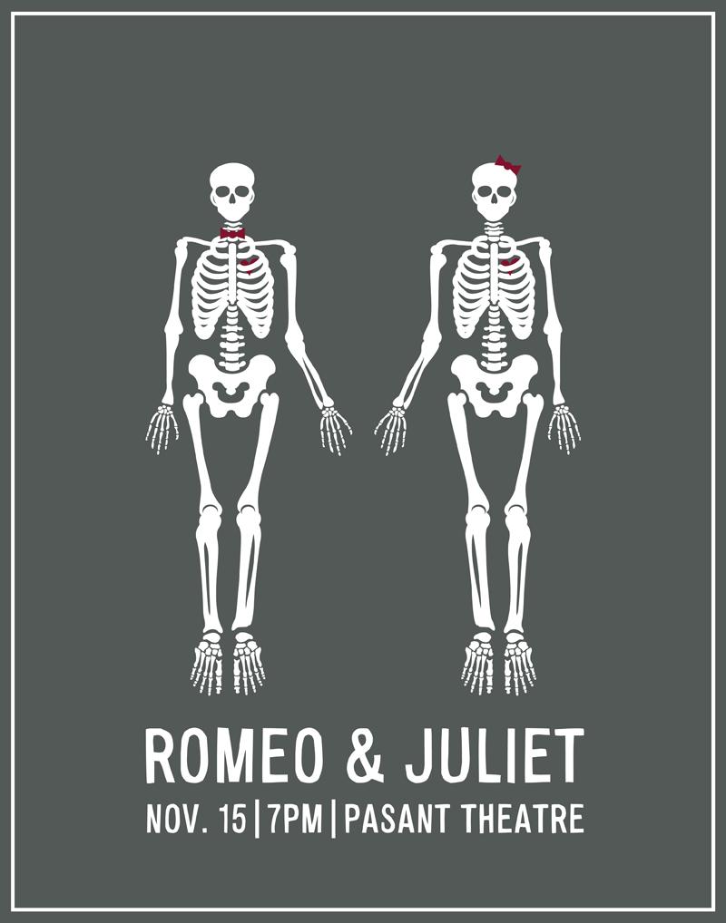 Romeo Juliet Theatre Poster Sarah Paquet