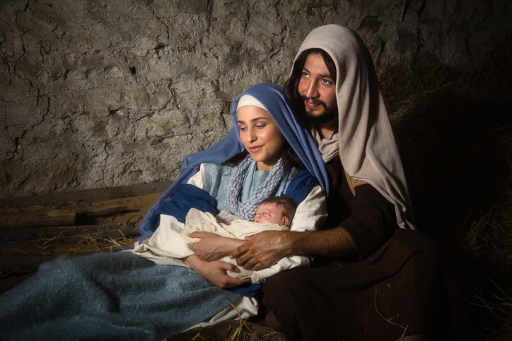 Christmas scene with baby Jesus, Mary and Joseph.jpeg