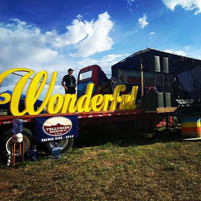Blue skies at the #bigwonderful Come by for some live music snd an Original Grass-fed Burger at #OGBurgers #Denver #Burgers #Foodporn