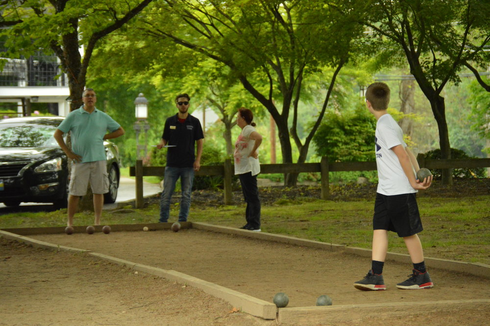 Bocce and Shuffleboard Courts and Horseshoe Pit