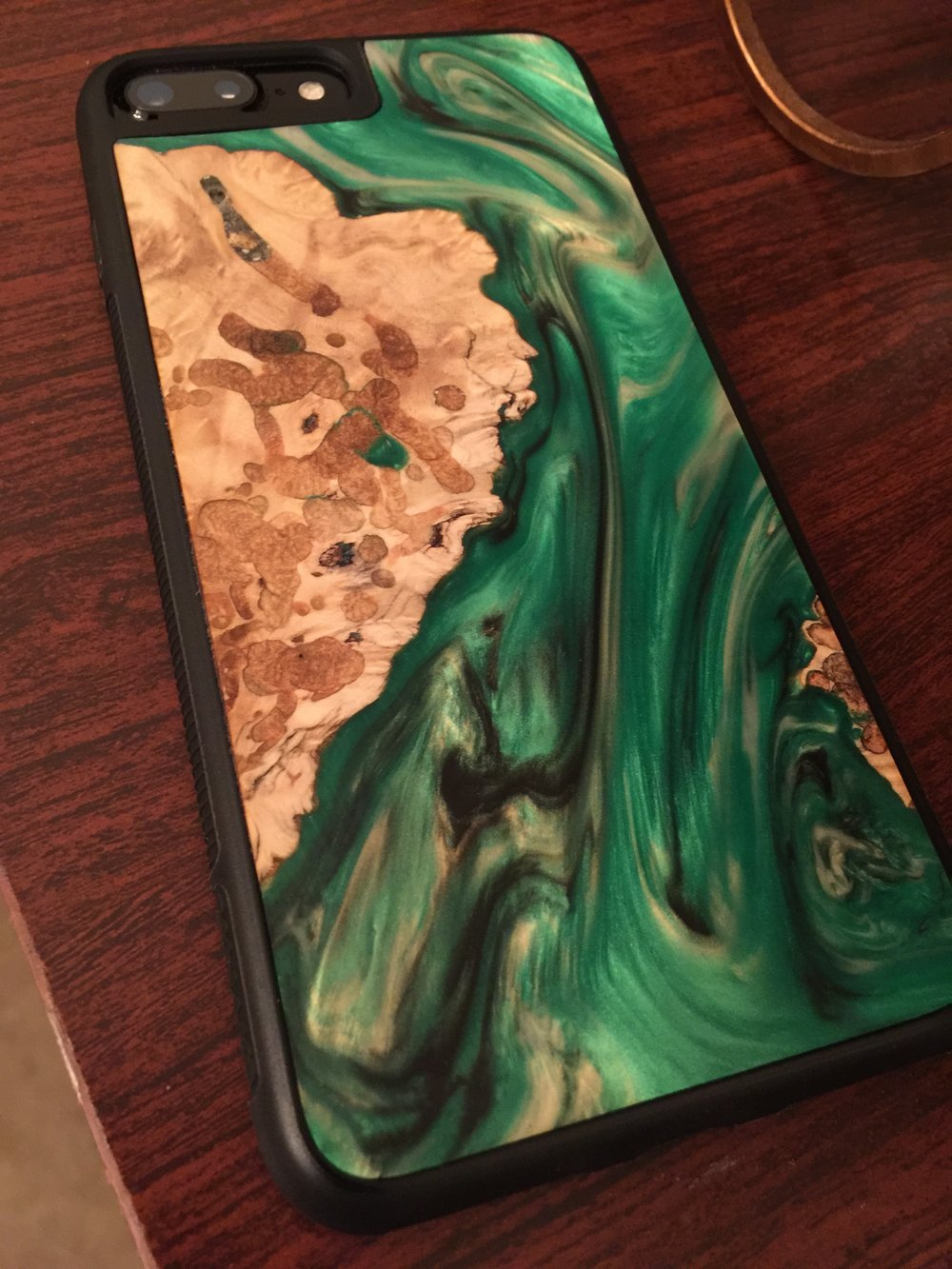 My iPhone 7 Plus in Carved's beautiful Satellite Traveler series case