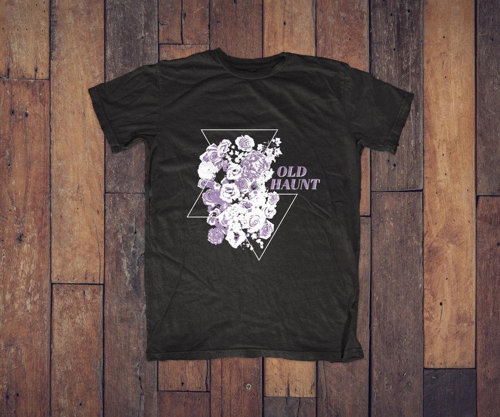 Floral T-Shirt Design, Custom Apparel, Screenprinting | Idaho Bear Lake Utah Graphic Designer | www.facelesscreativeco.com