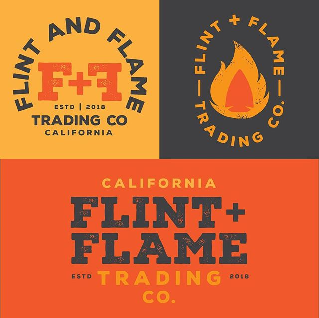 Alternate logos and brand pieces for Flint + Flame.