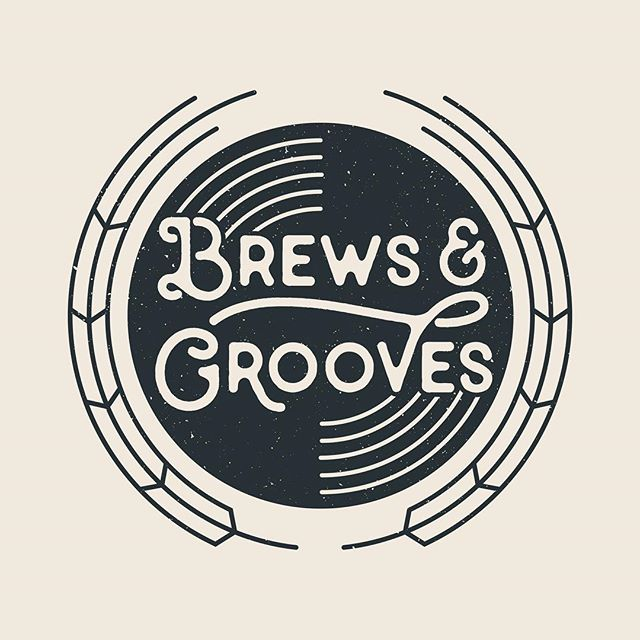 Logo for a new podcast about craft beer and vinyl records.