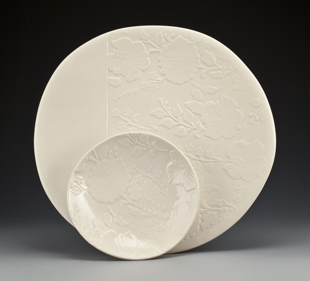Floral Plate Pair