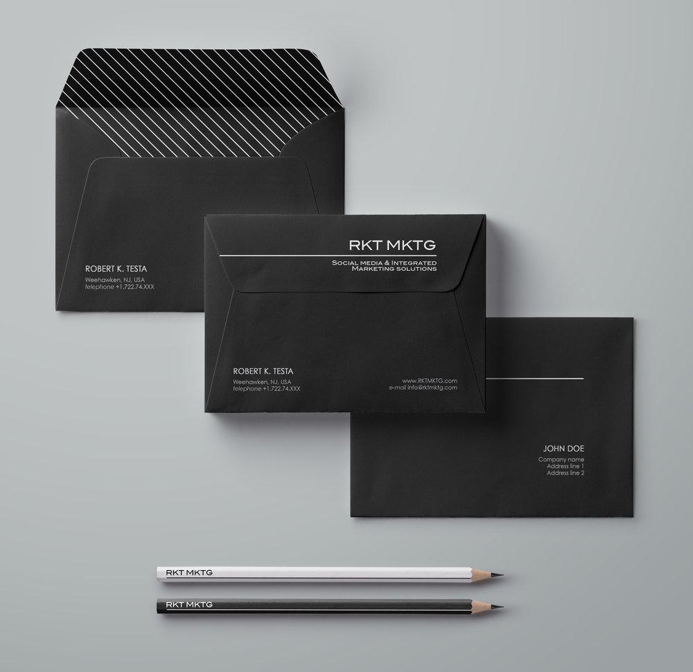 Envelope design.