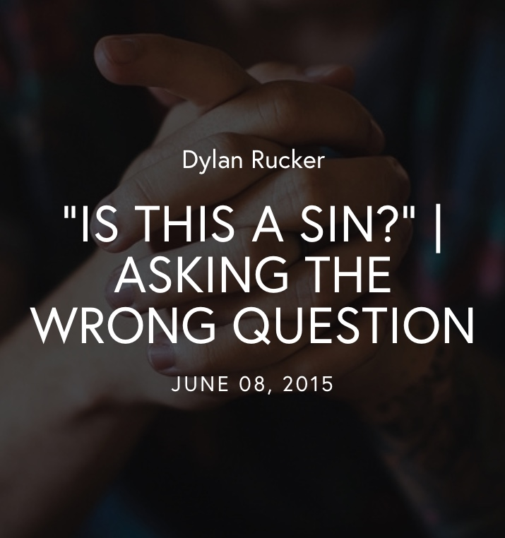 "Click to read ""Is This A Sin?""  By Dylan Rucker"