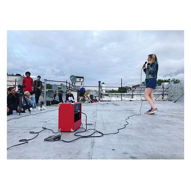 ty to @5thfloorpictures for letting me do standup on a ROOF for ppl much COOLER than me! it was the most fun!  #repost from @ryanmartinbrown!