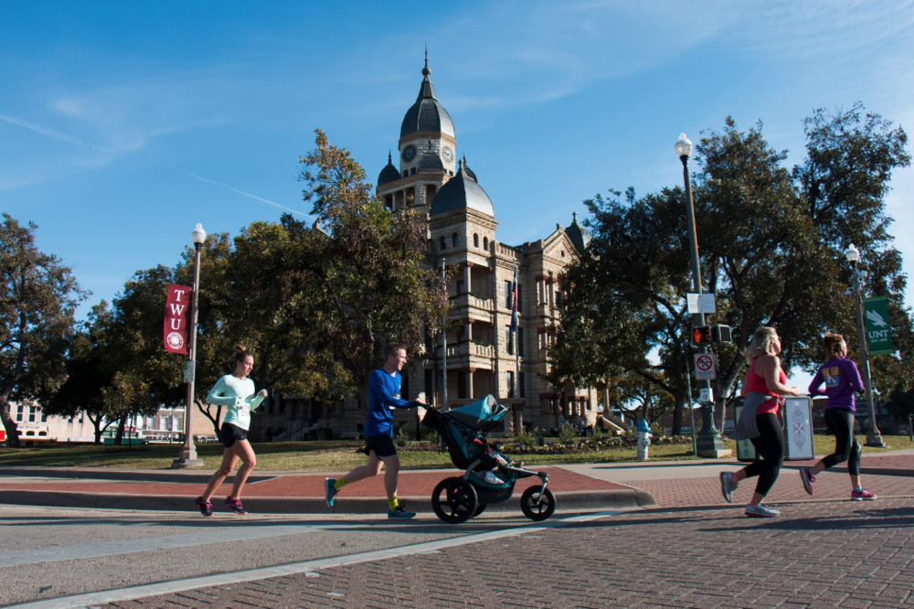 Downtown Denton - Running on the Square