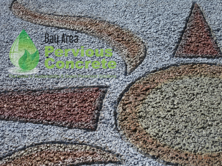 Pervious Concrete Mix Designs : Rc ready mix sample slab with decorative pervious — bay