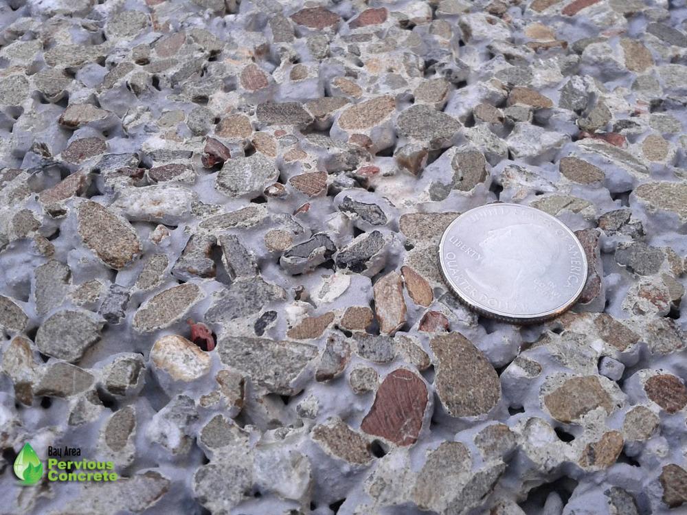 Decorative Polished Pervious Concrete - Local aggregate