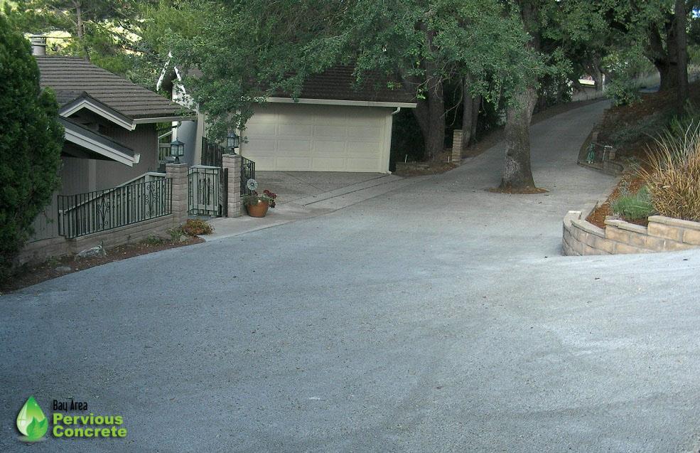 Pervious Concrete Driveway - Los Altos Hills, CA