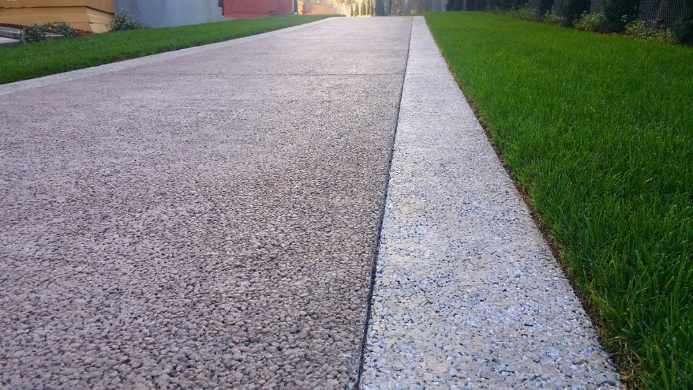 Pervious Concrete Mix Designs : Finish options — bay area pervious concrete