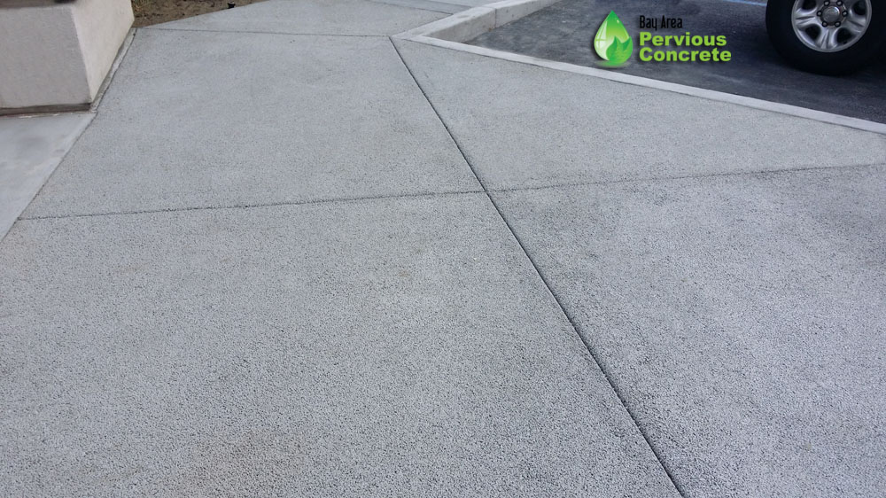Hyatt Regency- Classic Fine Grain Pervious Concrete Sidewalk- Burlingame, CA