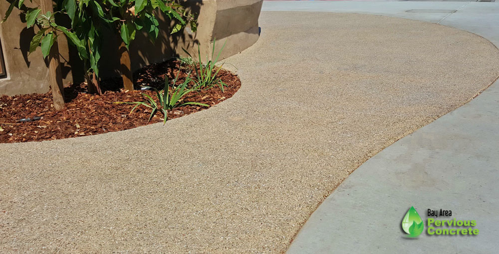 Mac Dutra Park Plaza - Colored Poilished Pervious concrete - Half Moon Bay, CA