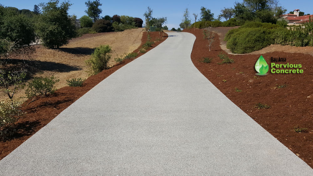 BAPC-Portola Valley-Polished Pervious Concrete-driveway