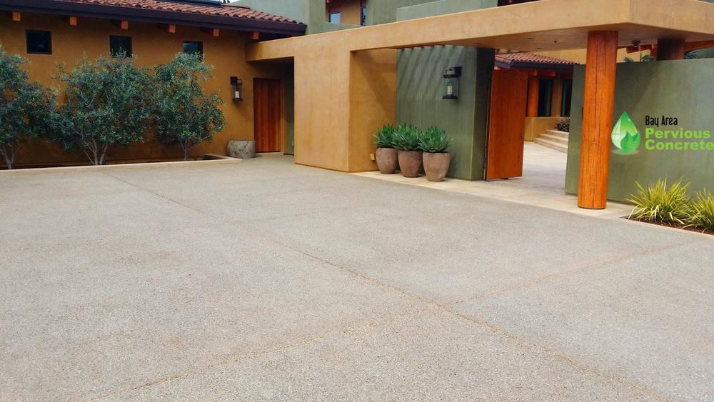 BAPC-Palo Alto-Polished Pervious concrete-Driveway