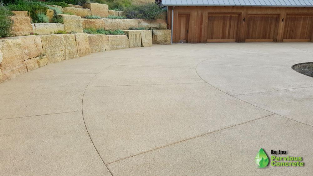 Portola Pervious Concrete Driveway - Portola Valley, CA