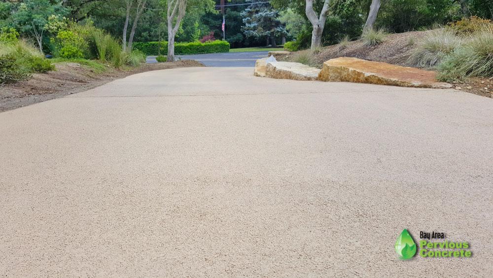 Same driveway, but now with BAPC Portola Pervious Concrete